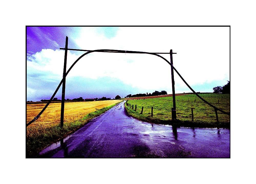 Kabel über der Strasse, Sonsbeck